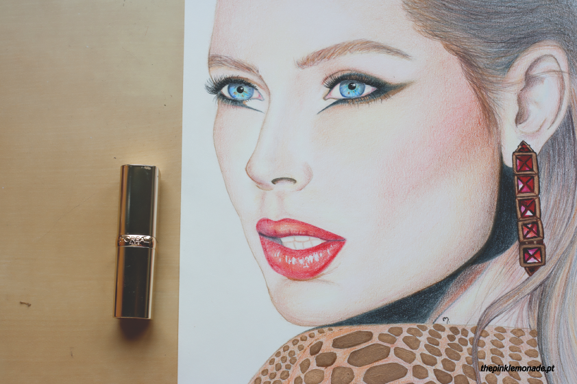 loreal-paris-doutzen-kroes-makeup-maquilhagem-christamas-extravaganza-illustration-marta-alves-the-pink-lemonade-2