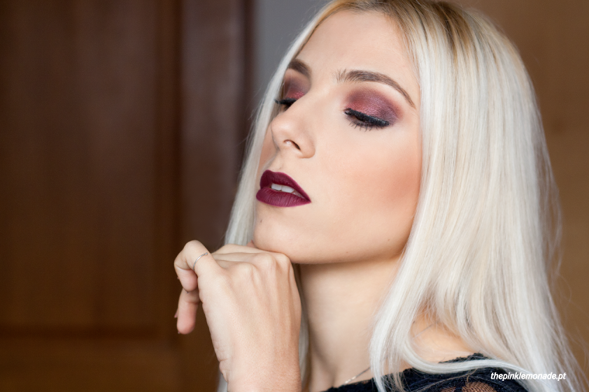 makeup-reveillon-2015-mac-makeupforever-purple-burgundy-lipstick-ingot-the-body-shop-marta-alves-the-pink-lemonade-maquiagem-1